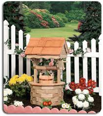wishing well outdoor decor gardens lawn ornaments