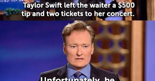 Waitressing Memes - taylor swift left the waiter 500 two tickets dr heckle