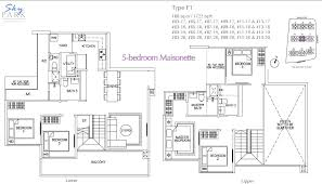 maisonette floor plan skypark residences floorplan f1 5bedroom maisonette paulng property