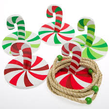 amazon com christmas candy cane ring toss game kids holiday
