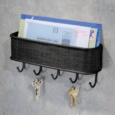 Key Holder Wall by Amazon Com Interdesign Twillo Mail Holder And Key Rack Organizer
