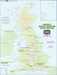 Great Britain On World Map by Map Of Unesco World Heritage Great Britain United Kingdom Map