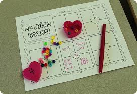 kindergarten valentine math center ideas
