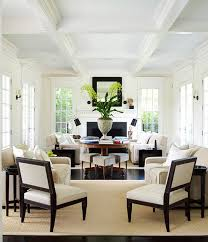 Dazzling Rooms Featuring Black And White Traditional Home - Black and white family room