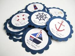 anchor theme baby shower personalized nautical favor tag in navy sailboat anchor sailor