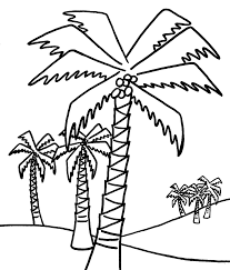100 palm leaf template printable stencil of a tree outline free