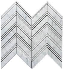 Marble Mosaic Floor Tile Bianco Chevron 1x4 Polished Marble Mosaic Floor And Wall Tile