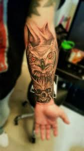 skull arm sleeve the 25 best owl skull tattoos ideas on pinterest sugar skull