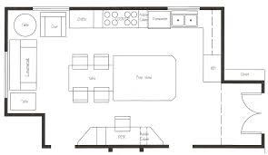 Kitchen Floor Plans Islands Rz Interesting Kitchen Popular Floor Plans Splendid Island Walk