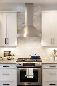 Rustic Kitchen Backsplash A Rustic U0026 Modern White Kitchen By Calgary Interior Designer