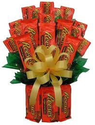 candy gift basket reeses candy bouquet