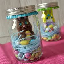 kids easter gifts chocolate bunny in easter jars diy easter crafts for kids