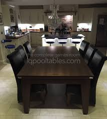 Pool Dining Table by Iq Install Gatley Classic Pool Dining Table Dark Walnut Finish