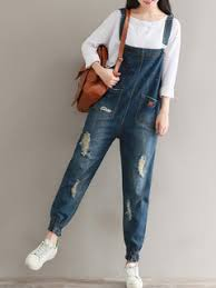 denim jumpsuits for sale casual ripped embroidery pockets denim jumpsuits for