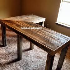 Diy Pallet Sofa Table V Shaped Pallet Desk Pallets Pallets And More Pallets