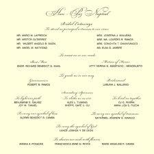 wedding program wording sles best of wedding invitation wording philippines wedding