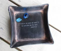 leather anniversary gifts for third anniversary gift emily bronte quote leather tray