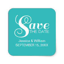 typography save the date stickers zazzle