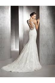 illusion neckline wedding dress mermaid illusion neckline see through back tulle lace