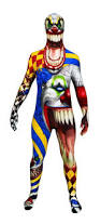 Scary Clown Halloween Costumes Men Adults Clown Morphsuit Horror Circus Scary Fancy Dress Costume