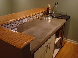 now this might be realistic for me poured concrete counter top