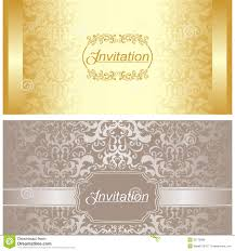Invitation Card Download Invitation Card Design In Gold And Silver Colors Royalty Free