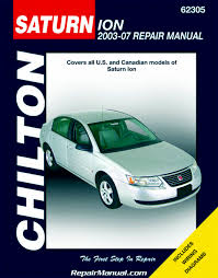 saturn ion 2003 2007 automotive repair manual pdf books with