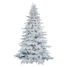 shop vickerman 6 5 ft white spruce flocked artificial christmas