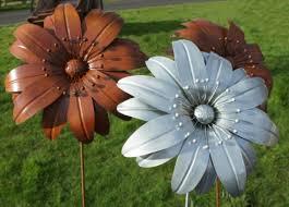 metal flowers impressive on metal garden flowers outdoor decor metal