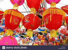 new year lanterns for sale lanterns on sale in a market in chinatown in