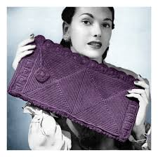Vintage Crochet Pattern Pdf Fashion by 43 Best 1940s Crochet Handbags Images On Pinterest Knitting Bags
