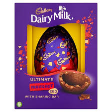 fruit and nut easter eggs morrisons cadbury dairy milk fruit nut easter egg 560g product