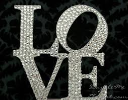 bling wedding cake toppers rhinestone wedding cake topper