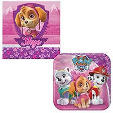 amazon pink paw patrol party supplies dessert plates 8