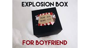 diy handmade gift for boyfriend explosion box youtube