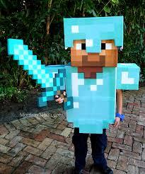 Enderman Halloween Costumes Diy Diamond Armor Minecraft Steve Mommymafia Halloween