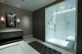 bathroom shower doors ideas master bathroom with glass doors offers visual connectivity with