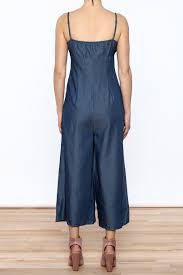 denim wide leg jumpsuit denim wide leg jumpsuit from california by shoptiques