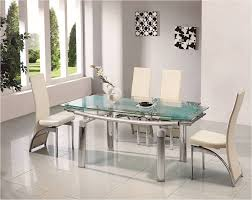 6 Seater Round Glass Dining Table Chair White Glass Dining Table Tables Clear And Chai Glass Dining