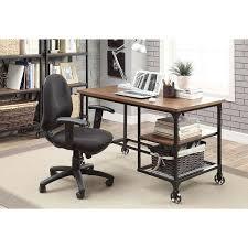 Overstock Office Desk Furniture Of America Daimon Industrial Medium Oak Writing Desk