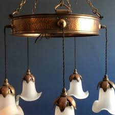 Arts And Crafts Ceiling Lights by Arts U0026 Crafts Ceiling Light Stunning Copper Chandelier