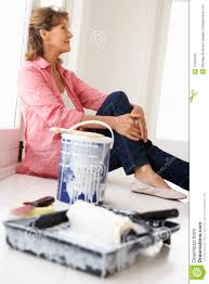 senior woman painting house royalty free stock photo image 21045195