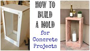 How To Build A Trestle Table How To Build A Mold For Concrete Projects Addicted 2 Diy