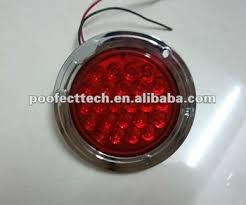 4 inch round led tail lights 4 inch round led tail light with chrome flange for trailer buy