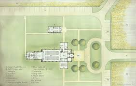 building project st paul s catholic church hague va 2015 12 18 site plan watercolor rendering with key small