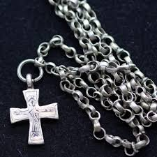 crucifix pendant necklace images Antique byzantine chain necklace cross crucifix pendant silver jpg
