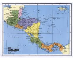 A Map Of The Caribbean by Maps Of Central America And The Caribbean Central America And The