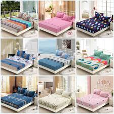 wholesale printed solid color fitted bed sheet elastic mattress