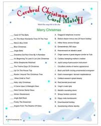 Party Games For Christmas Adults - christmas carol match decipher clues to the christmas carol