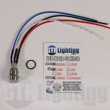 lighting led halo switch stainless steel bezel latching switch